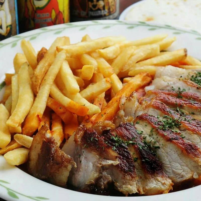 豚ロースサルサチポトレソース